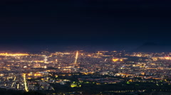 Turin skyline timelapse from night to day zoom out Stock Footage