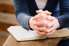 Prayer and Worship - stock photo