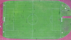 Aerial view of the goal scored at the right gate Stock Footage