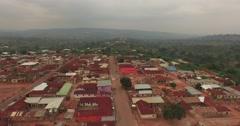 Africa Aerial Ghana Kumawu track back 4K Stock Footage