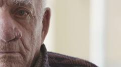 Moved, worried senior man Stock Footage