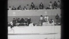 1968: Věra Čáslavská Czechoslovakia vault women's gymnastics Summer Olympic Stock Footage