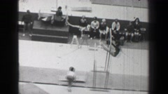 1968: Zinaida Voronina Soviet Union women's uneven bars gymnastics Summer - stock footage