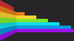 Abstract moving rainbow stripes background - stock footage