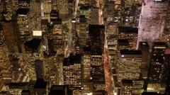 city lights making night to day. modern metropolis - stock footage