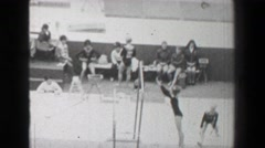 1968: Miroslava Sklenickova Czechoslovakia Soviet Union Women's gymnastics - stock footage