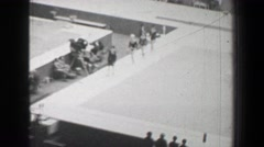 1968: Gold medal awards ceremony women's uneven bars gymnastics Summer Olympic Stock Footage