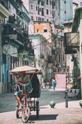 Havana Cuba Bike Taxi - stock photo