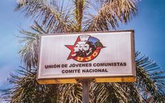 Young Communist League Sign Havana Cuba - stock photo
