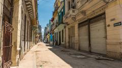 Havana Cuba Streets Perspective - stock photo