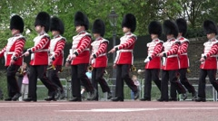 Changing of the guard in london Stock Footage