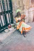 Havana Cigar Lady Stock Photos