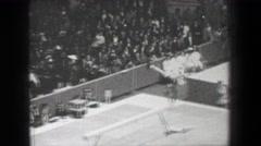 1968: Larisa Petrik Soviet Union women's gymnastics balance beam Summer Olympic Stock Footage