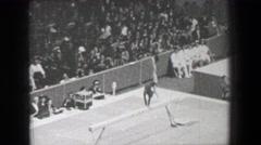1968: Larisa Petrik 2 Soviet Union women's gymnastics balance beam Summer Stock Footage