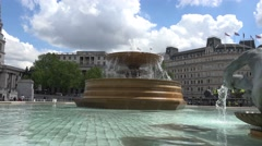 Fountain at trafalgar square Stock Footage