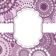 Patterned frame background invitation circular ornament pink - stock illustration
