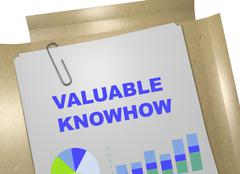 Valuable Knowhow business concept - stock illustration