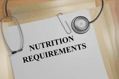 Nutrition Requirements medical concept - stock illustration
