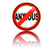 No Anxious Sign 3D Rendering Stock Illustration