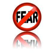 No Fear Sign 3D Rendering Stock Illustration