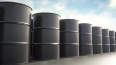 Oil Drums Seamless Loopable Stock Footage