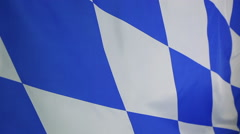 Closeup of a Bavarian flag, Germany Stock Footage