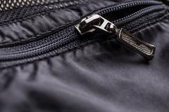 Zipper of a jacket pocket Stock Photos