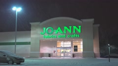 4K Joanns fabrics arts and crafts storefront Stock Footage
