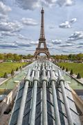 PARIS, FRANCE - MAY 2, 2016: Tour Eiffel town symbol on sunny day - stock photo