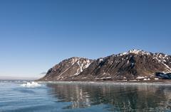 Svalbard Spitzbergen Glacier landscape Stock Photos