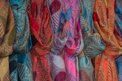 Various different colors silk fabric cloth Kuvituskuvat