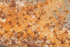 Rust backgrounds - Metal covert in rust - stock photo