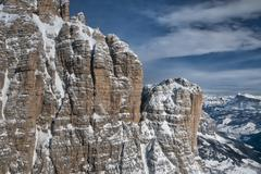 Dolomites aerial sky view - stock photo