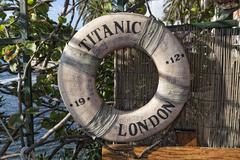 Rsm titanic 1912 life buoy Stock Photos
