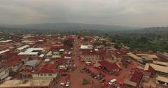Africa Aerial Ghana Kumawu track in 4K Stock Footage