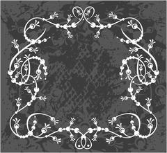 Decorative frame with pattern - stock illustration