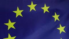Textile flag of European Union - stock footage