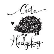 Illustration of cute hedgehog - stock illustration
