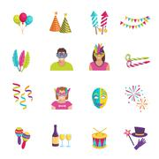 Carnival Icon Flat - stock illustration