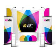 Exhibition Stand Color Design Stock Illustration