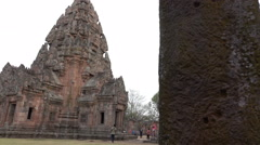 Castle Rock Park Phanom Rung beautiful Stock Footage