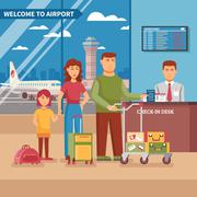 Airport Work Illustration Stock Illustration