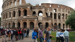 Colosseum in Rome Vertical Panorama Stock Footage