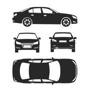 Car line draw insurance, rent damage, condition report form blueprint Stock Illustration