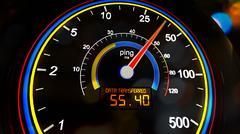 Internet Bandwidth Download Upload Speed Meter - stock illustration