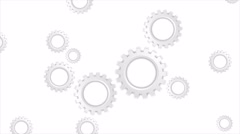 Grey paper tech gears mechanism video animation - stock footage
