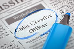 Chief Creative Officer Hiring Now - stock illustration