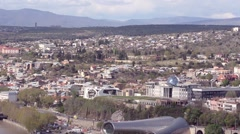Tbilisi view mountains music theater and drama the presidents residence - stock footage