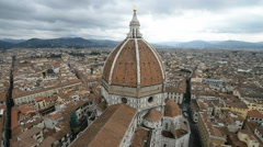 Beautiful renaissance cathedral Santa Maria del Fiore in Florence, Italy Stock Footage