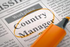 Country Manager Join Our Team - stock illustration